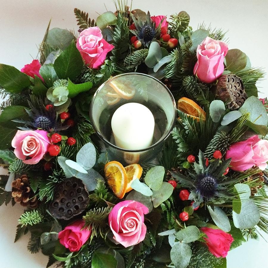 Seasonal Table Arrangement